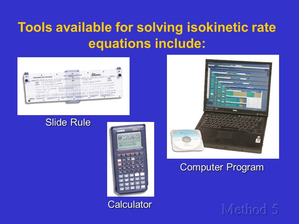 Tools available for solving isokinetic rate equations include: