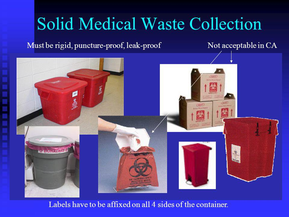 Solid Medical Waste Collection