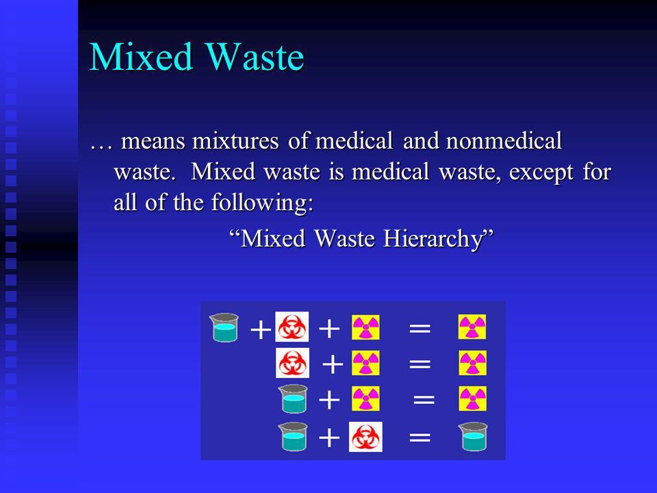 Mixed Waste Hierarchy