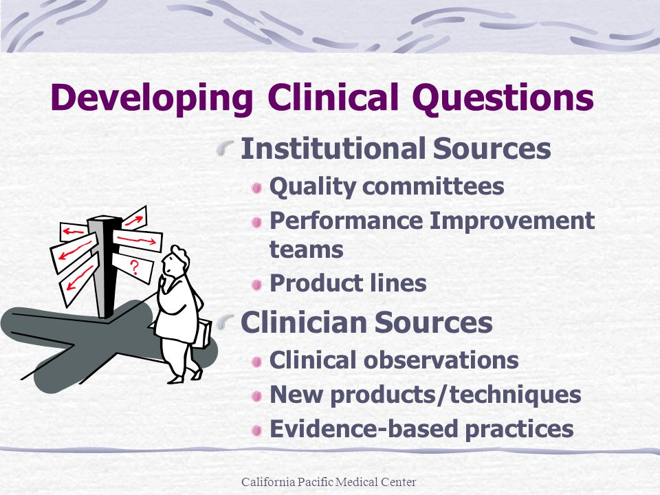 Developing Clinical Questions