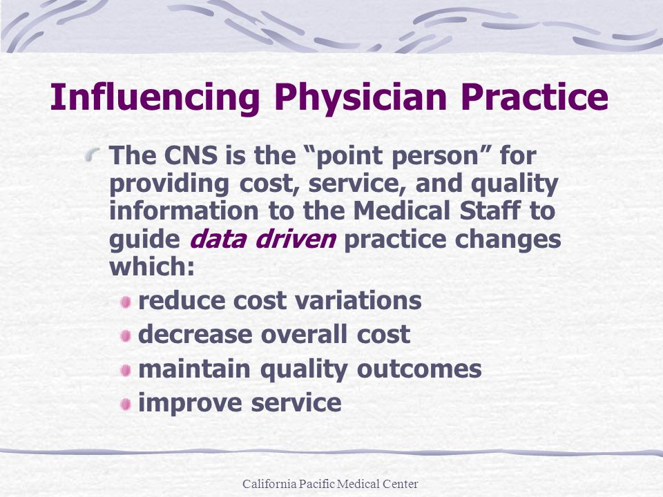 Influencing Physician Practice