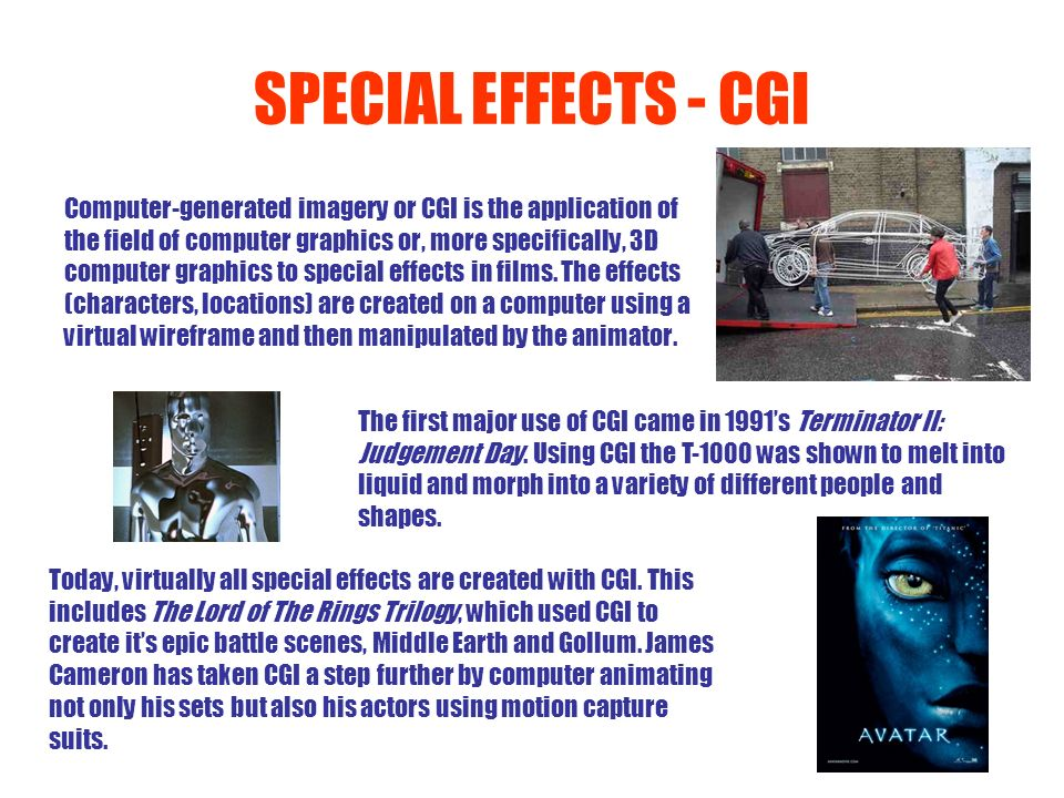 SPECIAL EFFECTS - CGI