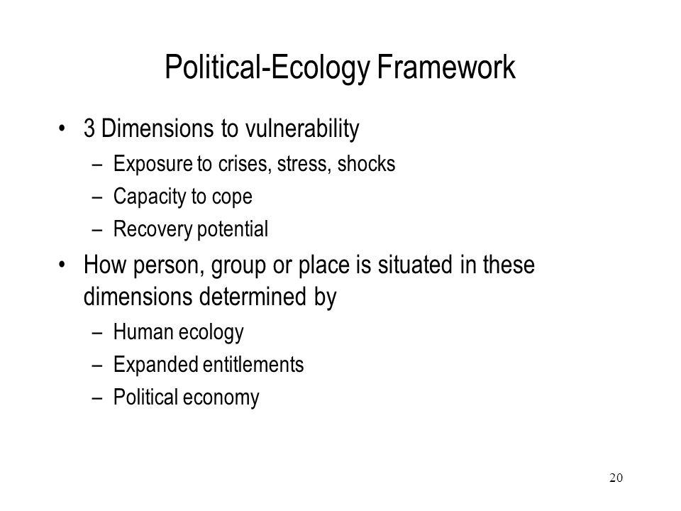 Political-Ecology Framework