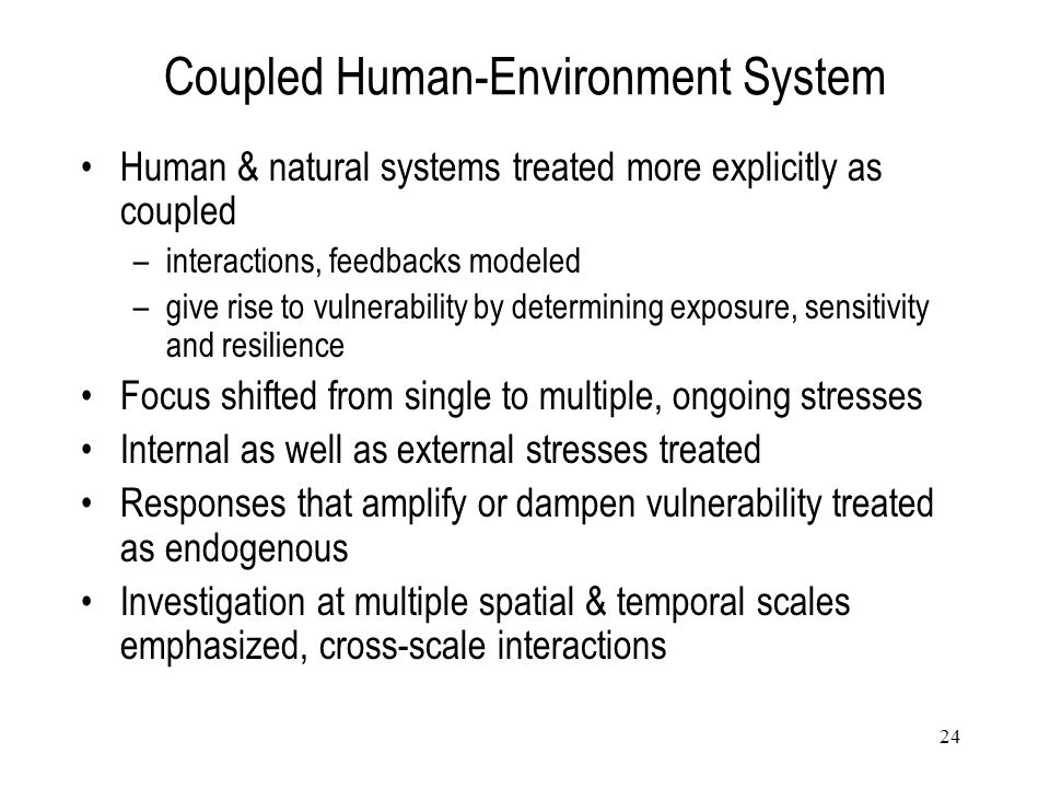 Coupled Human-Environment System