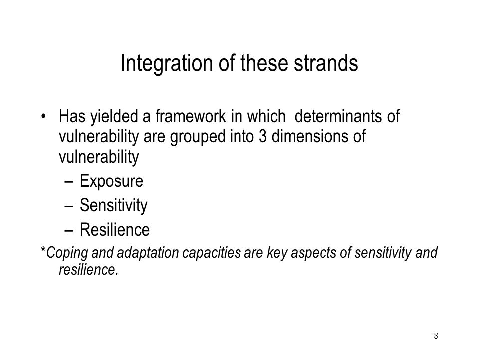 Integration of these strands