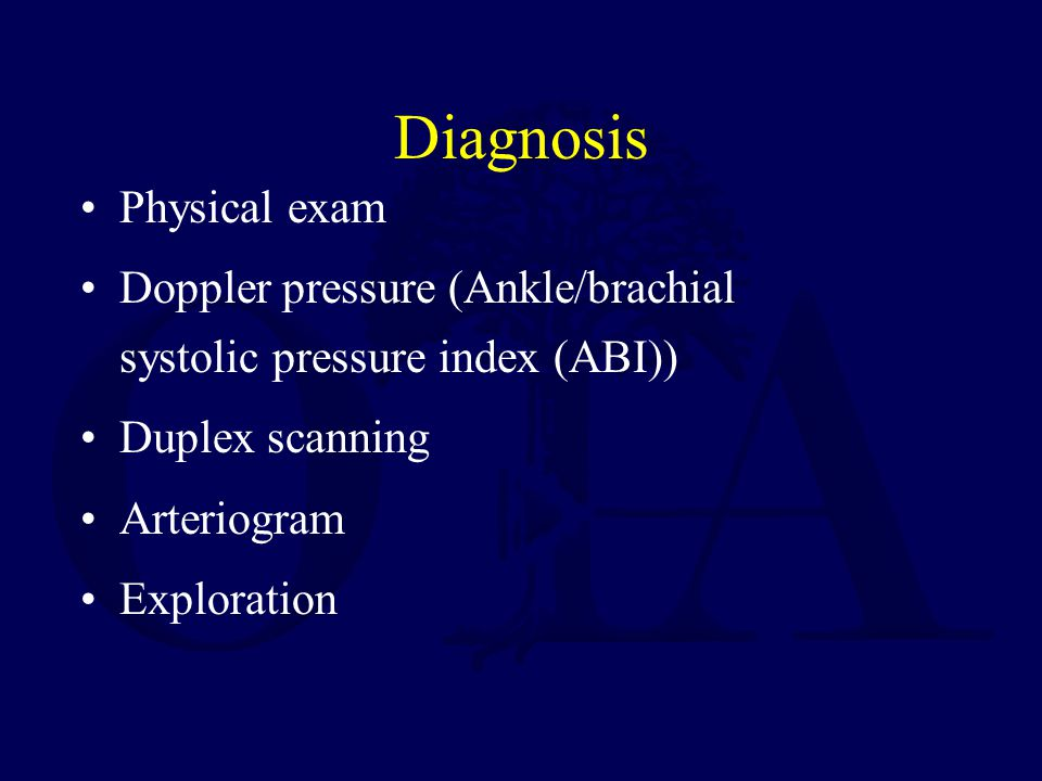 Diagnosis Physical exam