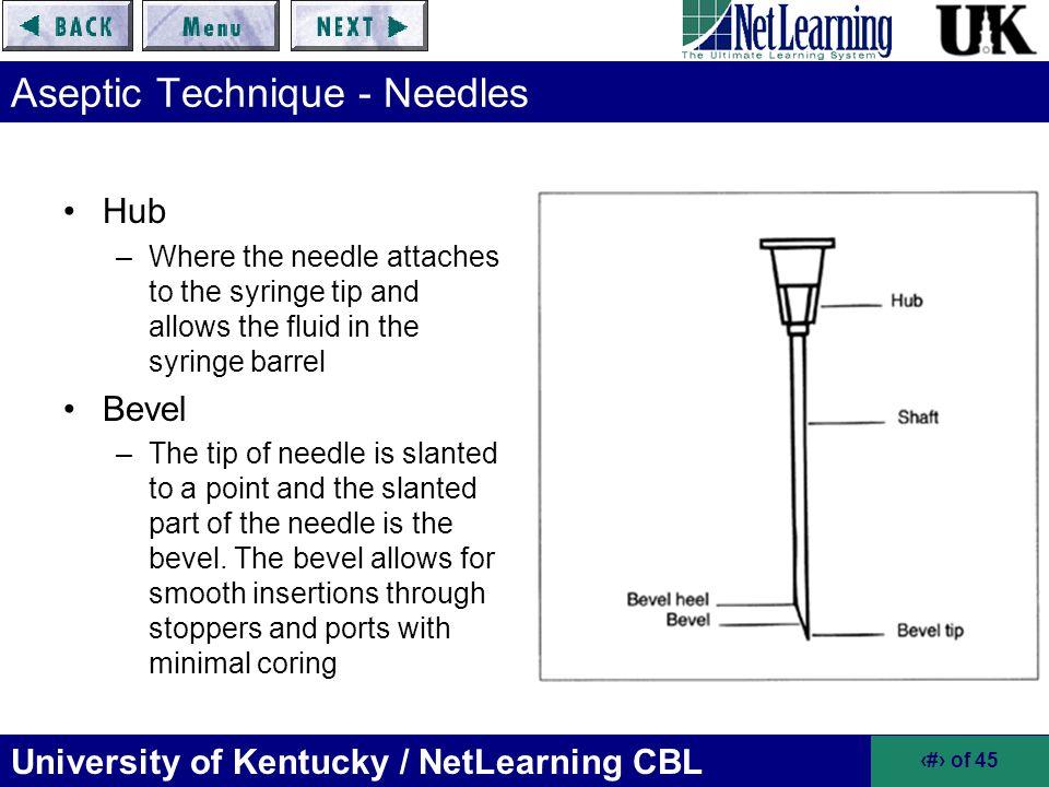 Aseptic Technique - Needles
