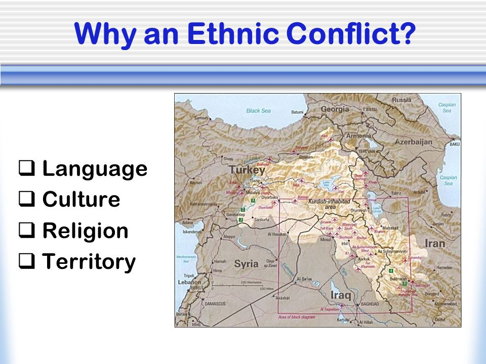 Why an Ethnic Conflict Language Culture Religion Territory