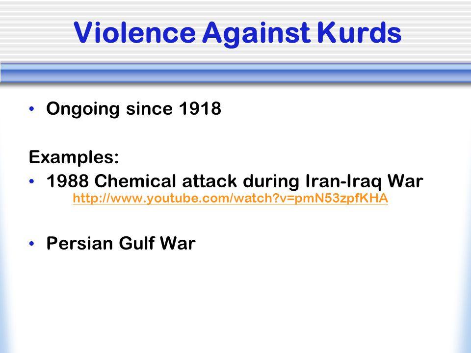 Violence Against Kurds
