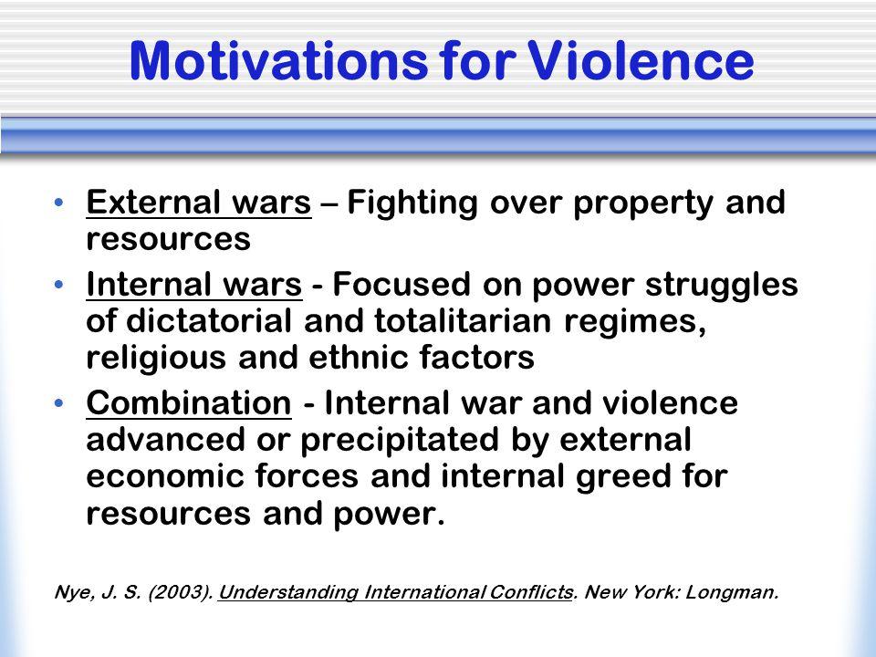 Motivations for Violence