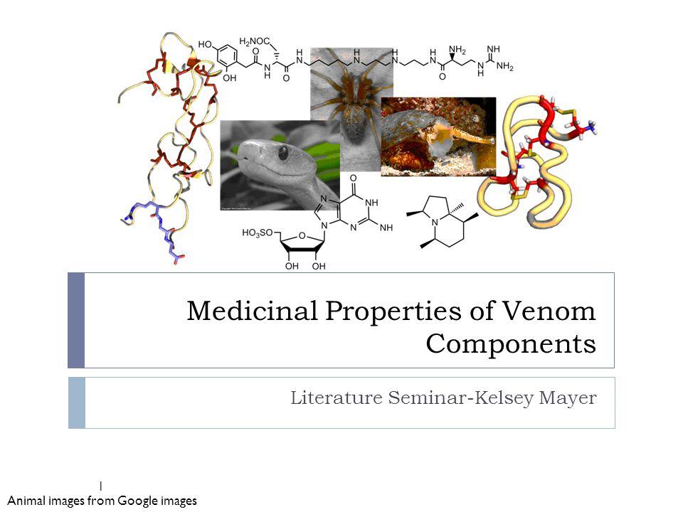 Medicinal Properties of Venom Components