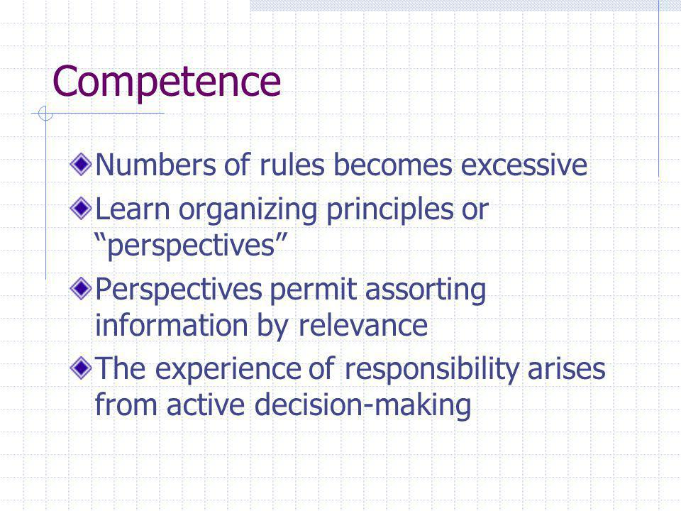 Competence Numbers of rules becomes excessive