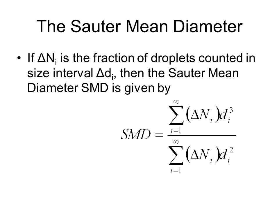 The Sauter Mean Diameter