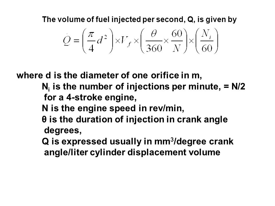 where d is the diameter of one orifice in m,