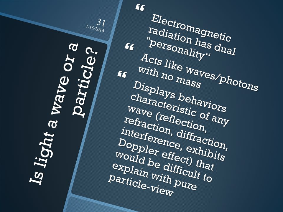 Is light a wave or a particle