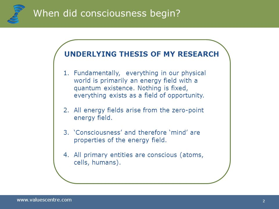 When did consciousness begin