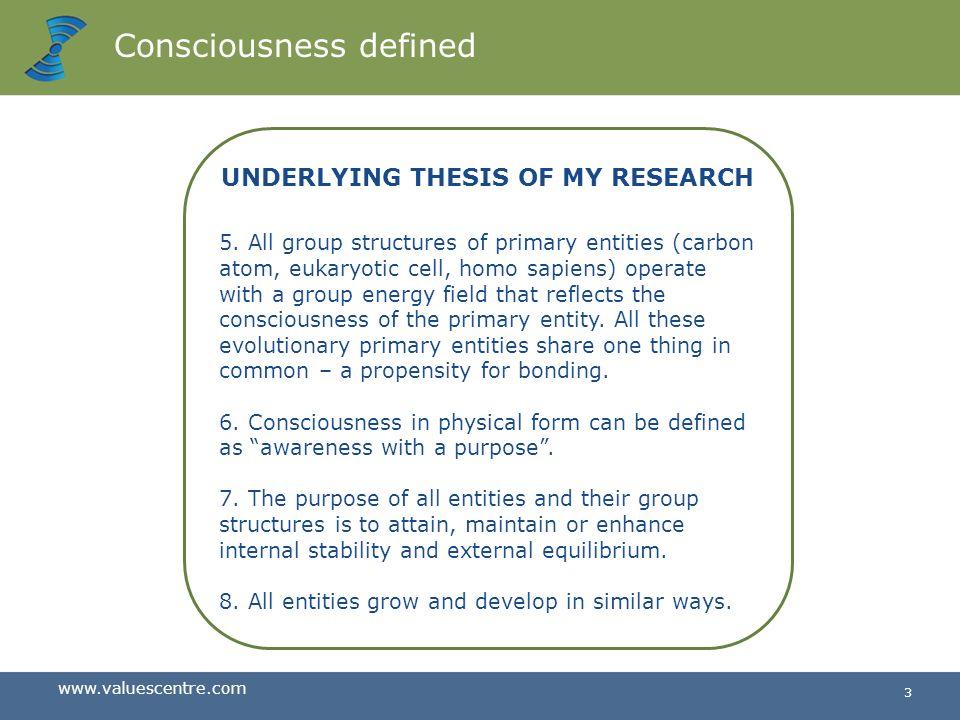 Consciousness defined