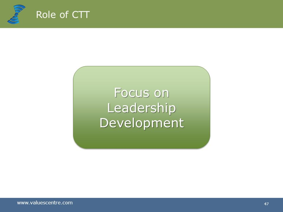 Role of CTT Focus on Leadership Development