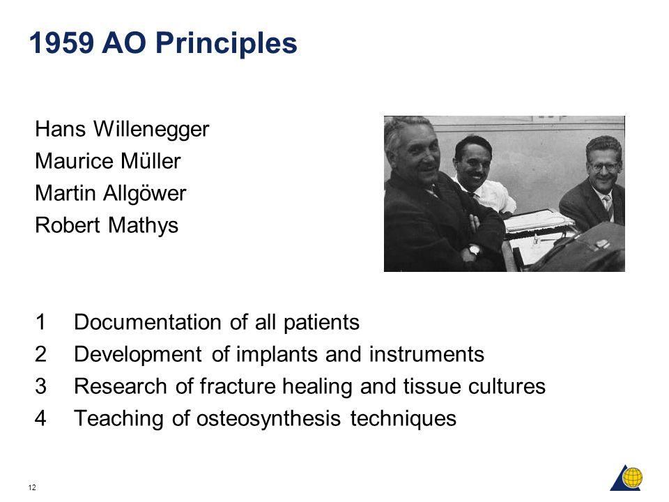 1959 AO Principles Hans Willenegger Maurice Müller Martin Allgöwer