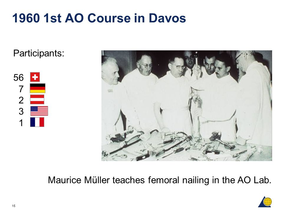 1960 1st AO Course in Davos Participants: 56 7 2 3 1