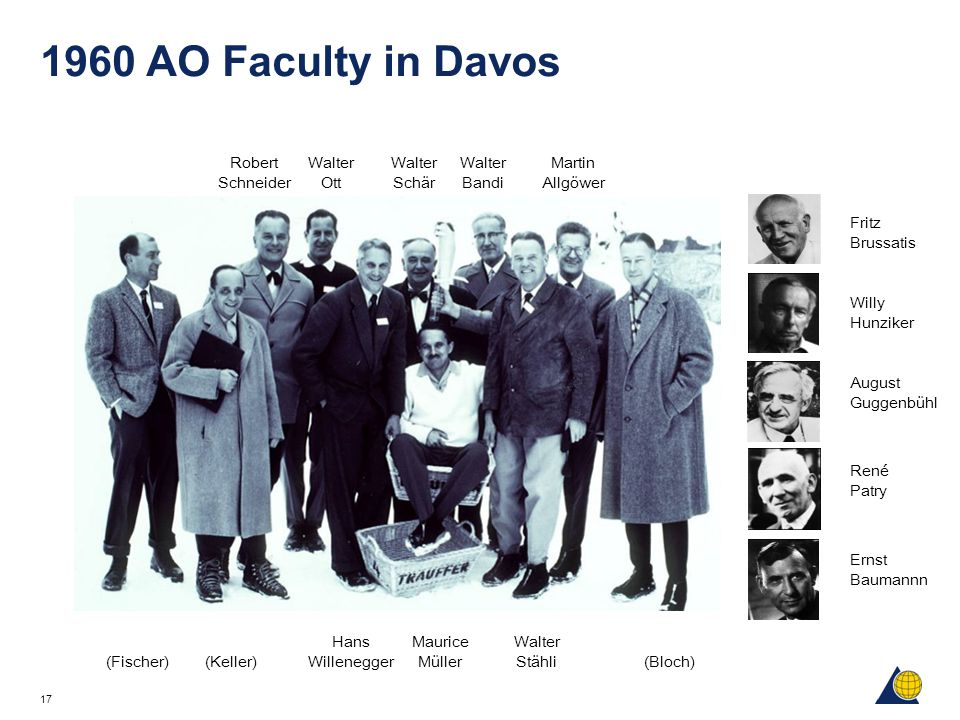1960 AO Faculty in Davos Robert Schneider Walter Ott Walter Schär
