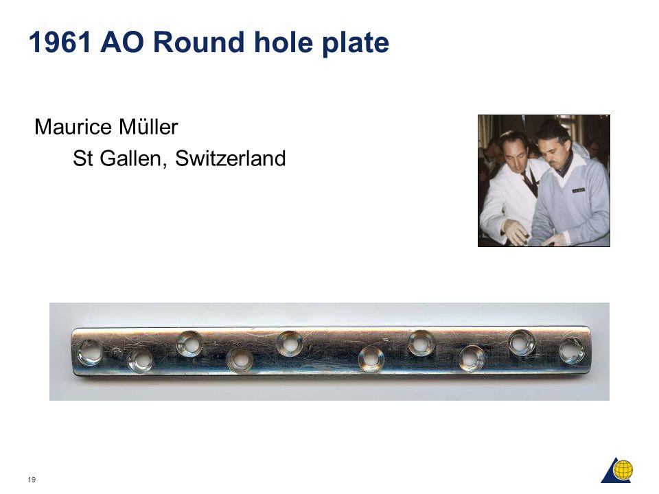 1961 AO Round hole plate Maurice Müller St Gallen, Switzerland
