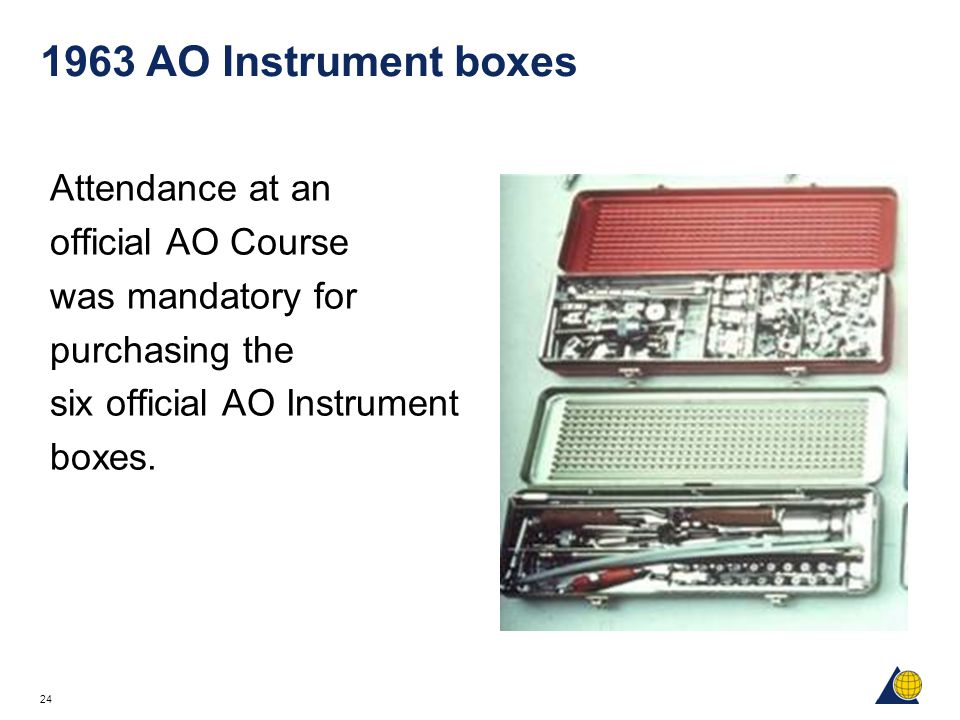 1963 AO Instrument boxes Attendance at an official AO Course