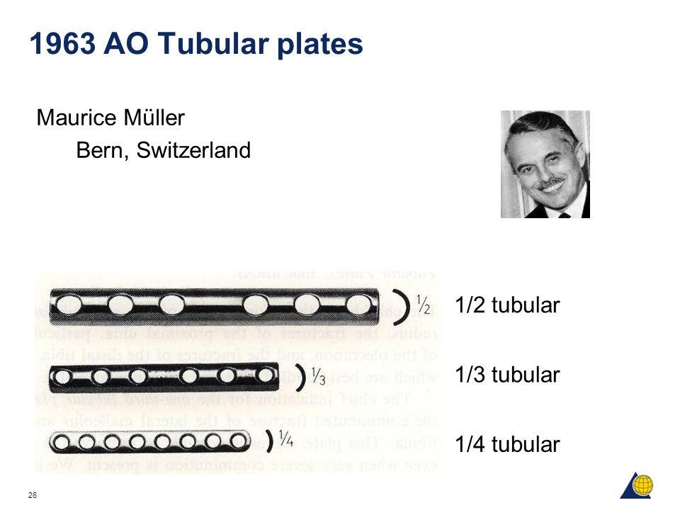 1963 AO Tubular plates Maurice Müller Bern, Switzerland 1/2 tubular