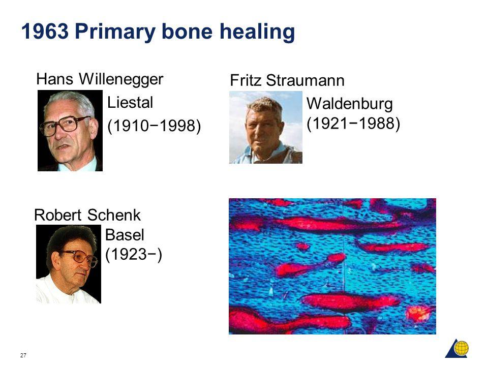 1963 Primary bone healing Hans Willenegger Fritz Straumann Liestal