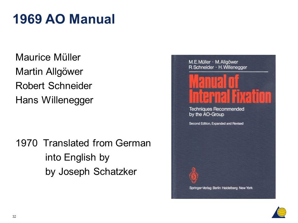 1969 AO Manual Maurice Müller Martin Allgöwer Robert Schneider
