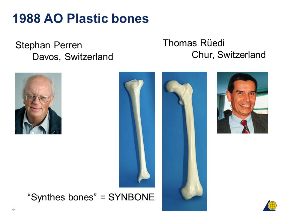 1988 AO Plastic bones Thomas Rüedi Stephan Perren Chur, Switzerland