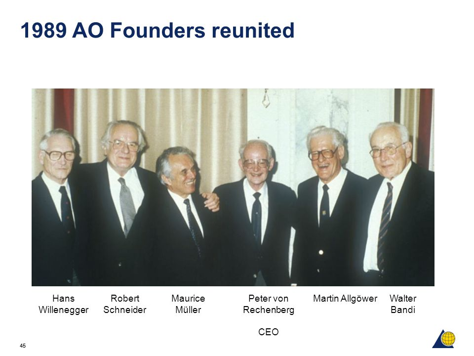 1989 AO Founders reunited Hans Willenegger Robert Schneider