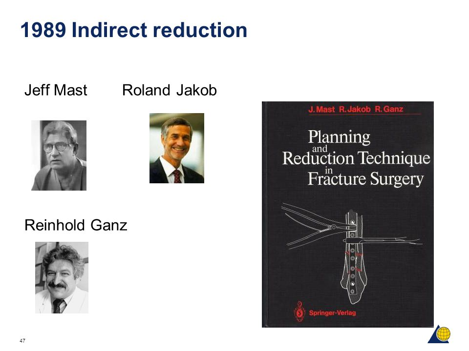 1989 Indirect reduction Jeff Mast Roland Jakob Reinhold Ganz