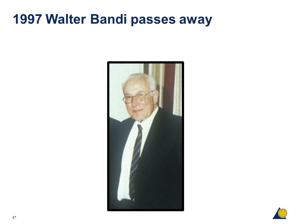 1997 Walter Bandi passes away