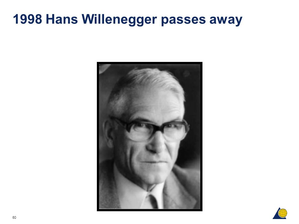 1998 Hans Willenegger passes away
