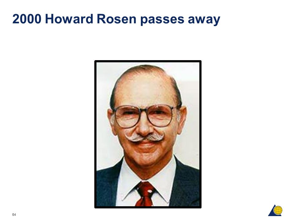 2000 Howard Rosen passes away