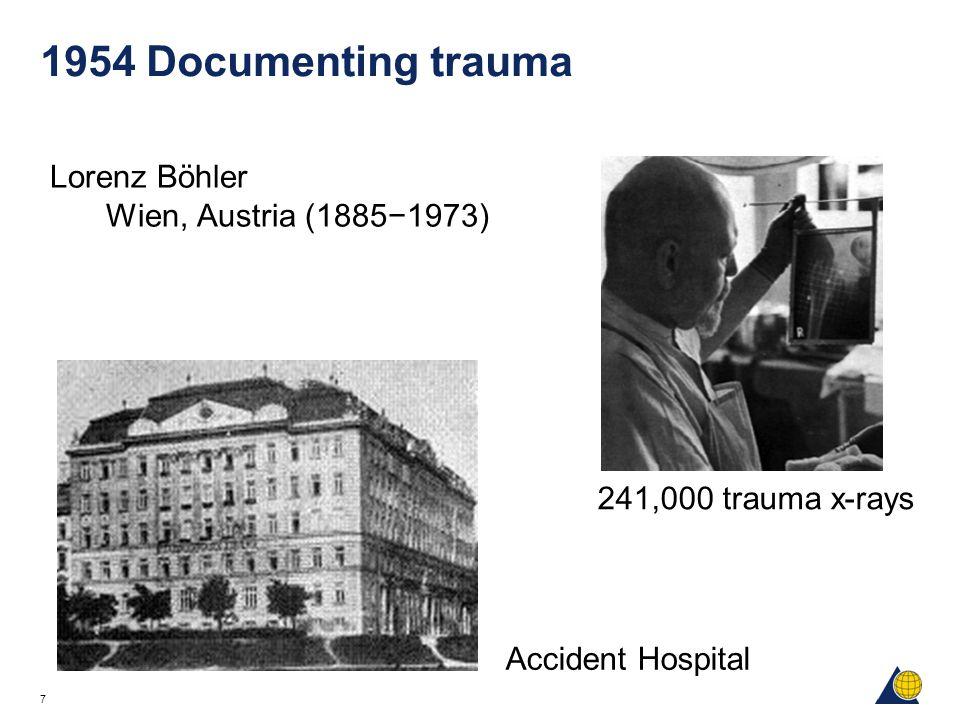 1954 Documenting trauma Lorenz Böhler Wien, Austria (1885−1973)