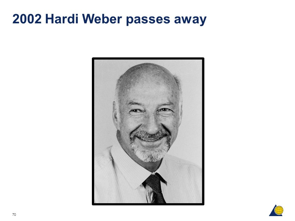 2002 Hardi Weber passes away