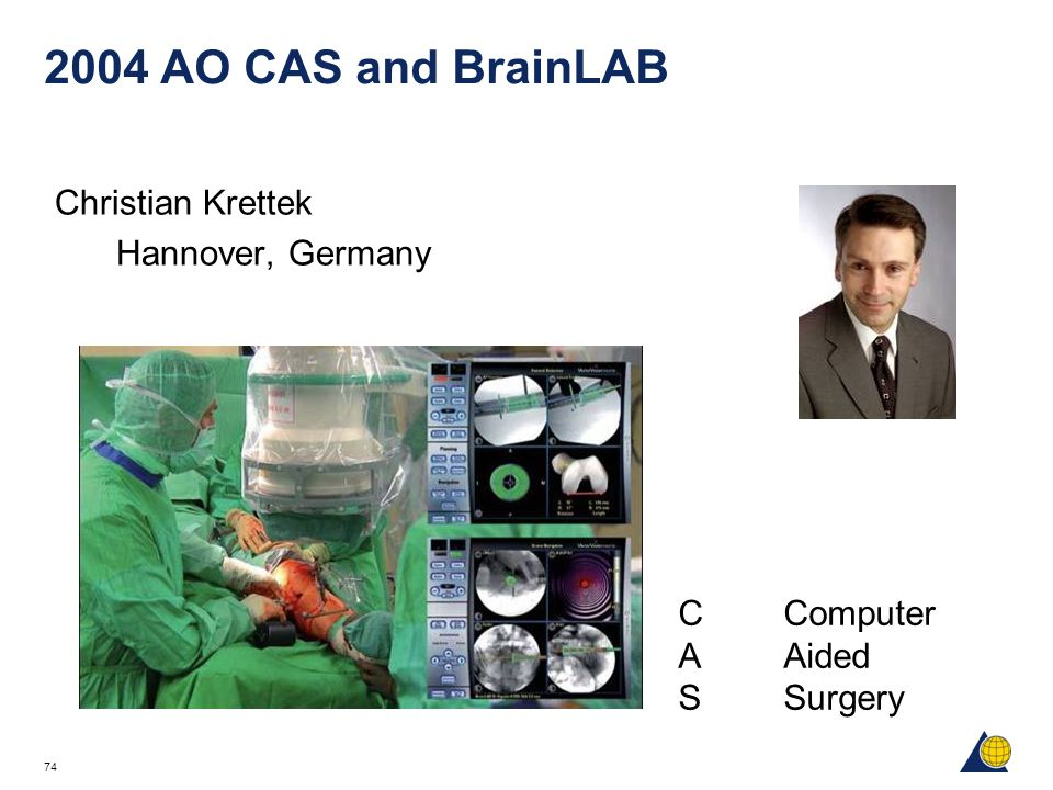 2004 AO CAS and BrainLAB Christian Krettek Hannover, Germany
