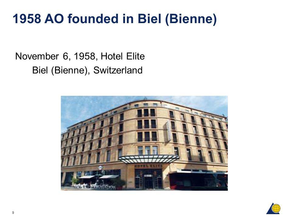 1958 AO founded in Biel (Bienne)