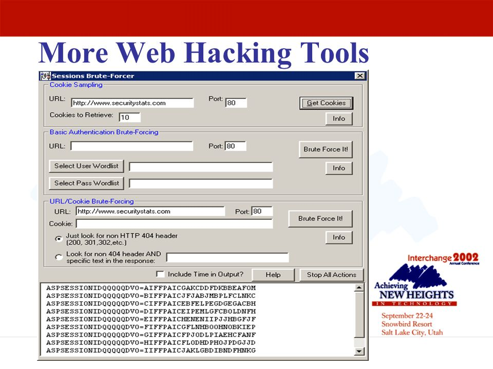 More Web Hacking Tools