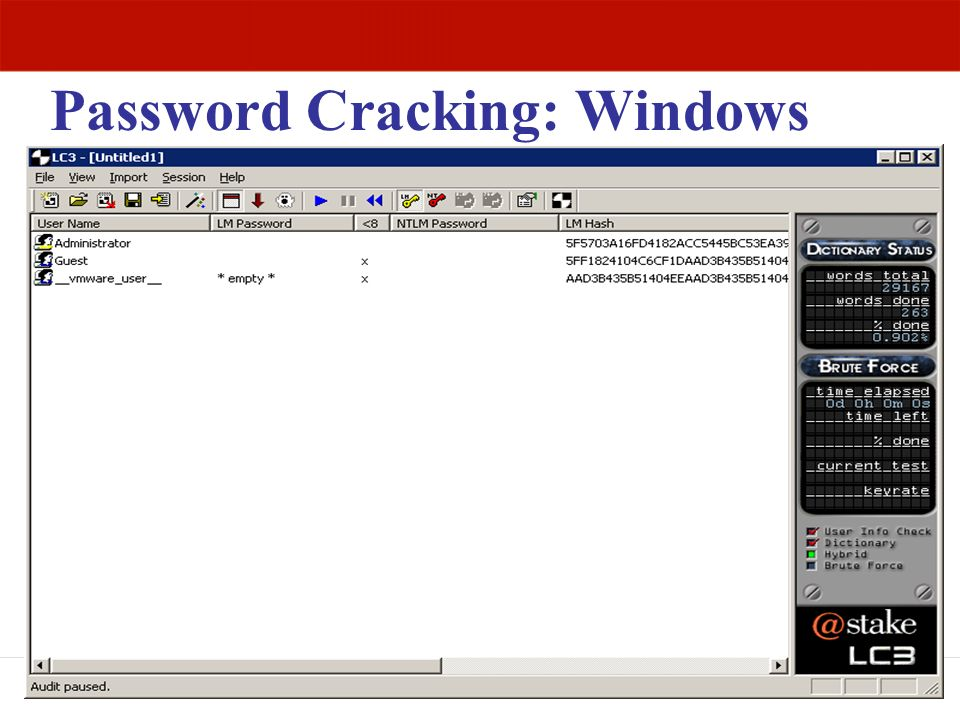 Password Cracking: Windows