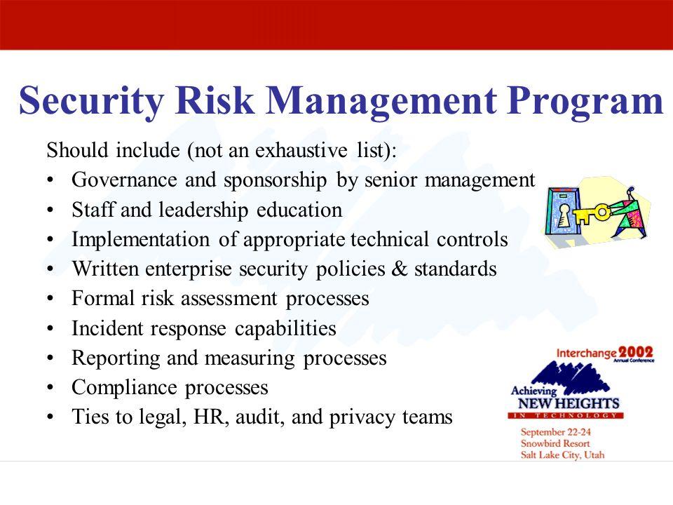 Security Risk Management Program