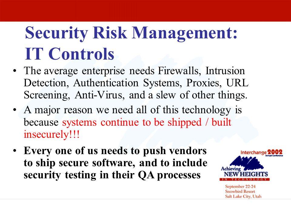 Security Risk Management: IT Controls