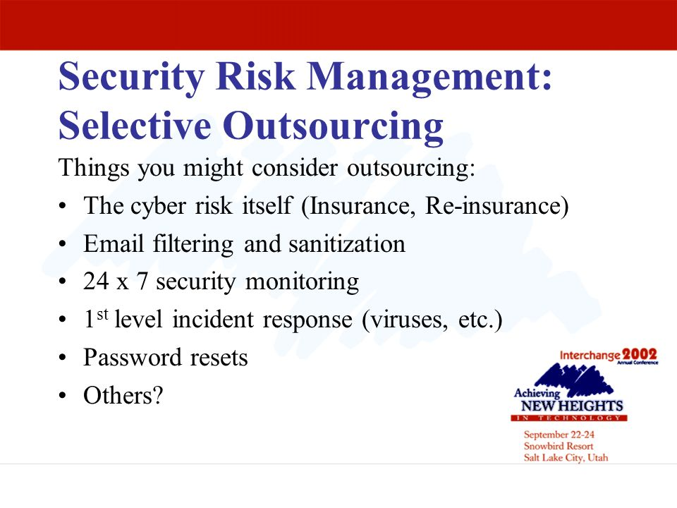 Security Risk Management: Selective Outsourcing