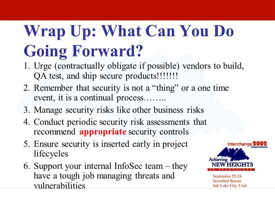 Wrap Up: What Can You Do Going Forward