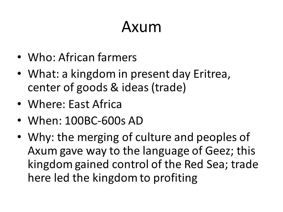 Axum Who: African farmers