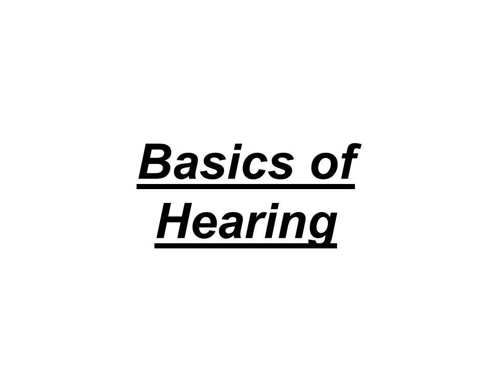 Basics of Hearing