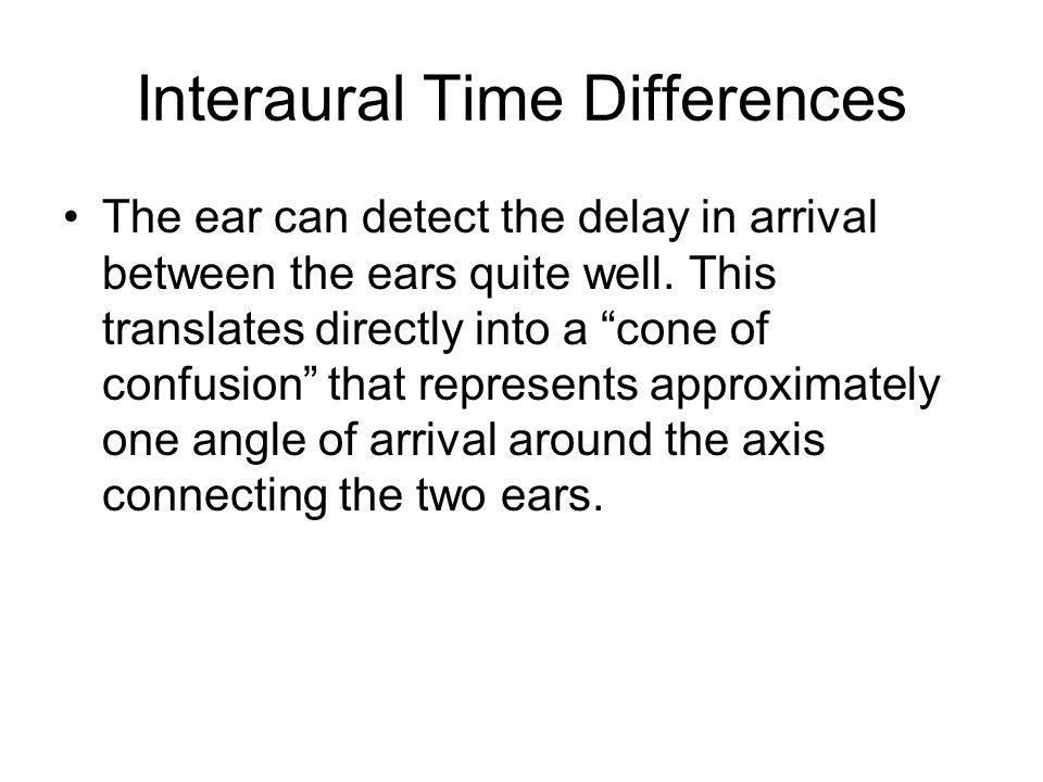 Interaural Time Differences