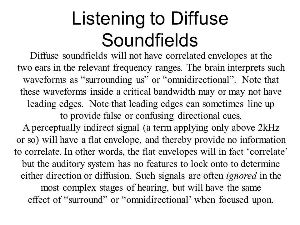 Listening to Diffuse Soundfields